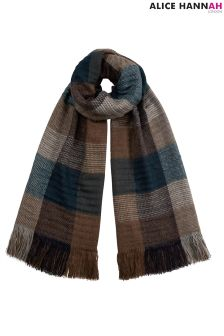 AH London Checked Woven Scarf