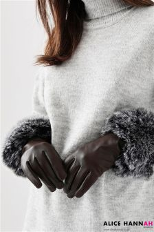 Alice Hannah Leather Gloves