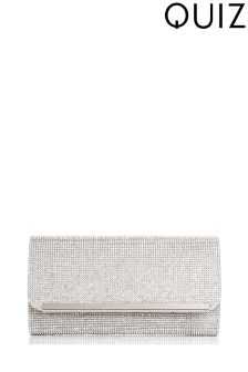 Quiz Diamanté Covered Clutch Bag