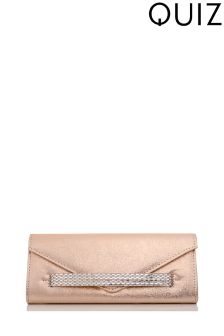 Quiz Jewelled Panel Clutch Bag