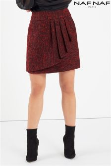 Naf Naf Frill Detail Wrap Skirt