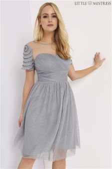 Little Mistress Curve Embellished Skater Dress