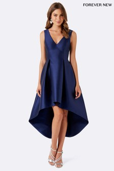 Satynowa sukienka wyjściowa Forever New bez rękawów
