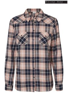 Noisy May Long Sleeve Check Shirt