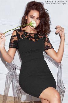Lipsy Love Michelle Keegan Cold Shoulder Sequin Detail Bodycon Dress