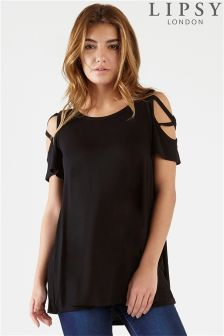 Lipsy Criss Cross Cold Shoulder Top