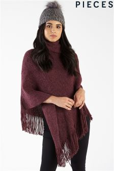 Pieces Roll Neck Poncho