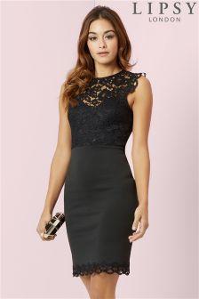 Lipsy Petite Lace Bodycon Dress