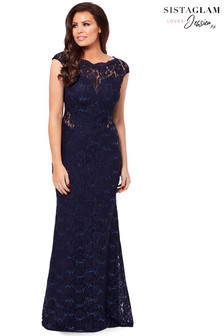 Jessica Wright Sequin Lace Maxi Dress