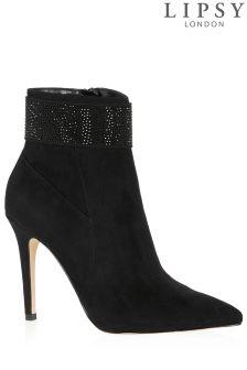 Lipsy Diamanté Detail Ankle Boots
