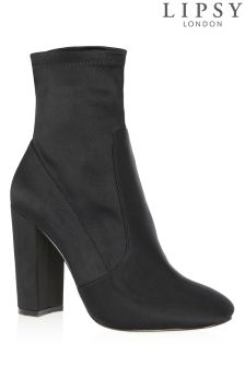 Lipsy Stretch Satin Ankle Boots