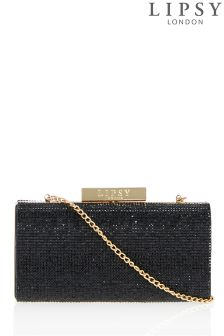 Lipsy Diamanté Box Clutch Bag