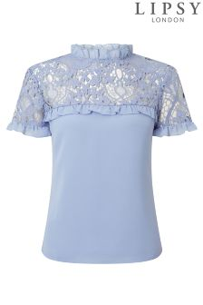 Lipsy Loves Michelle Keegan Lace Shell Top
