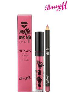 Barry M Matte Metallic Liquid Lip Kit - Allure