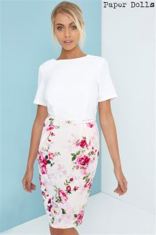 Paper Dolls Floral Printed Bodycon Dress