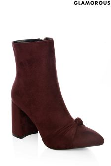 Glamorous Knot Toe Ankle Boots