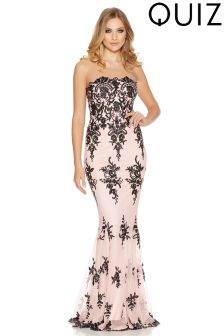 Quiz Sequin Scalloped Hem Maxi Dress