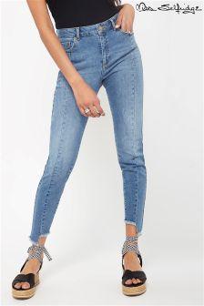 Miss Selfridge Asymmetric Hem Jeans