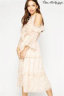 Miss Selfridge Floral Tiered Midi Dress