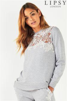 Lipsy Lace Sweatshirt