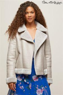 Miss Selfridge Petite Sherling Jacket
