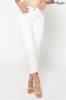 Miss Selfridge Petite Raw Hem Skinny Jeans