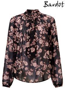Рубашка с галстуком-бабочкой Bardot