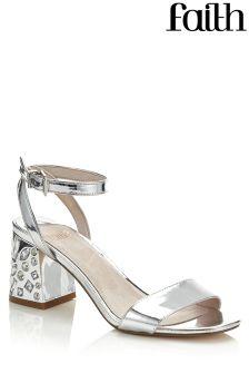 Faith Embellished Heel Sandals