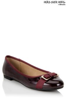 Head Over Heels Patent Flat Pumps