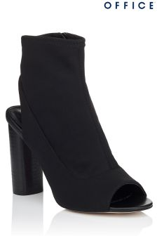 Office Stretch Peep Toe Ankle Boots