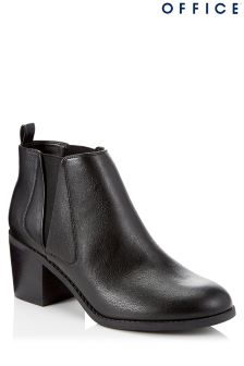 Office Block Heel Ankle Boots