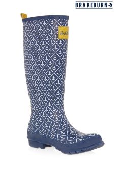 Brakeburn Anchor Print Wellies