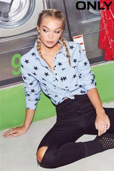 Only Long Sleeve Star Print Shirt