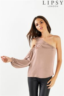 Lipsy One Shoulder Peep Blouse