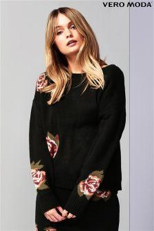 Sweter w kwiaty Vero Moda