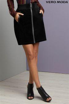 Vero Moda Suede Pencil Skirt