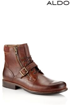 Aldo Lace Up Buckle Ankle Boots