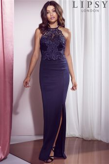 Lipsy Lace Artwork Detail Maxi Dress