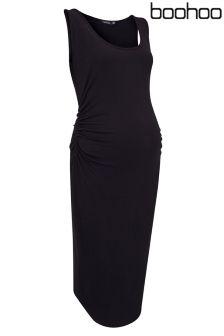 Boohoo Maternity Basic Midi Dress