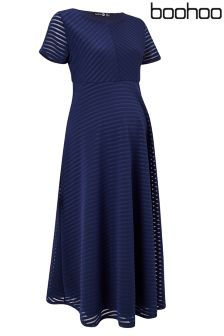 Boohoo Maternity Full Skirted Prom Midi Dress