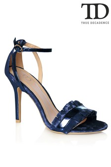True Decadence Velvet Pleated Sandals