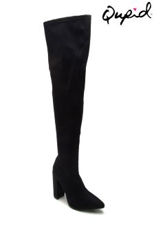 Qupid Pointed Over The Knee Boots