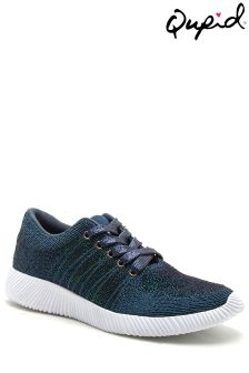 Qupid Mesh Lace Up Trainers