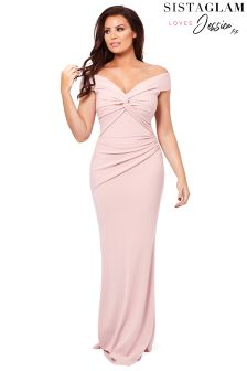 Jessica Wright Bardot Maxi Dress