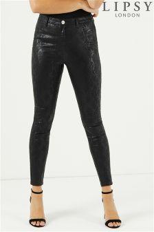 Lipsy High Waist Snake Print Jeans