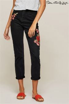Miss Selfridge Embroidered Mom Jeans