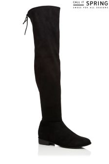 Call It Spring Stretch Over The Knee Flat Boots