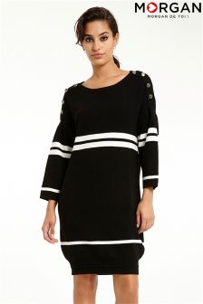 Morgan Stripe Knitted Dress