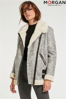 Morgan Faux Fur Shearling Coat