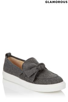Glamorous Wool Bow Trainers